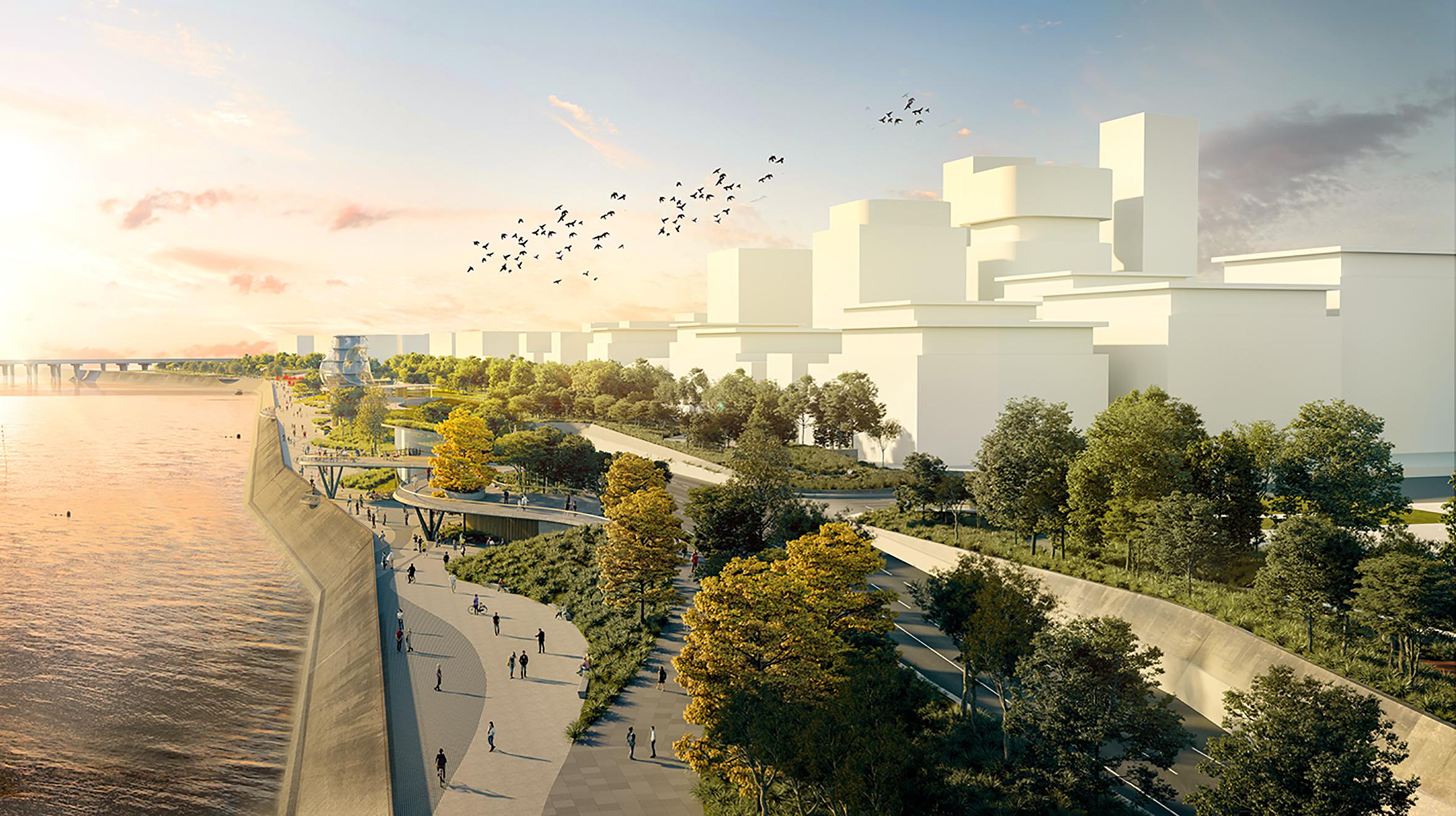 Hangzhou Riverfront - Hub C Elevated View - Rev D - HR